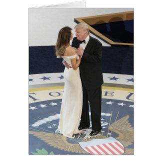 First Couple Donald and Melania Trump Dancing Ball Card