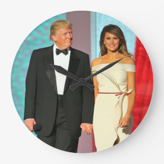 First Couple Donald and Melania Trump Inauguration Clock