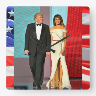First Couple Donald and Melania Trump Liberty Ball Clock