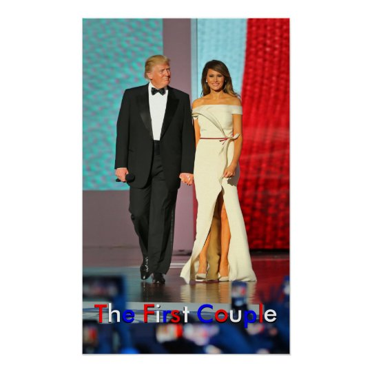 First Couple Donald and Melania Trump Liberty Ball