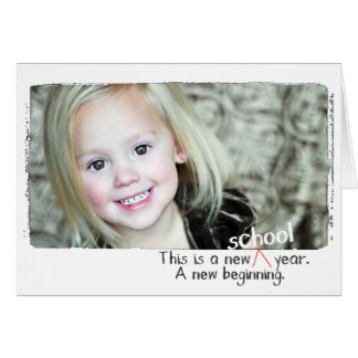 First day back to school photo cards