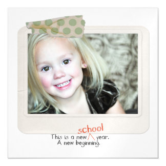 First day back to school photo Photo thin magnets Magnetic Invitations