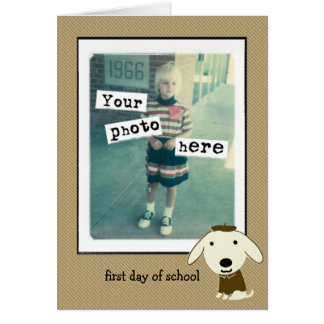 First Day of School Stationery Note Card