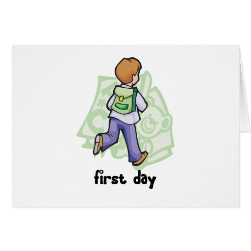 First Day Of School Greeting Card