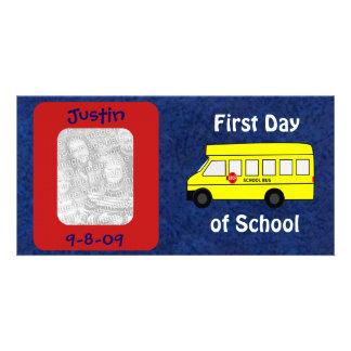 First Day of School Custom Keepsake Personalized Customised Photo Card