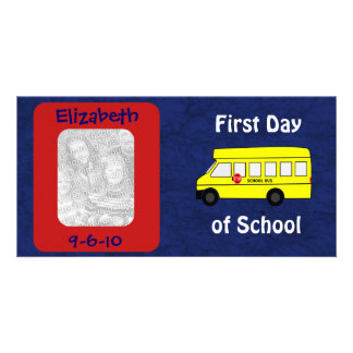 First Day of School Custom Photo and Date Customised Photo Card