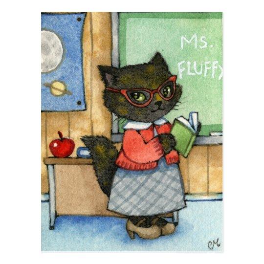 First Day of School - Cute Teacher Cat