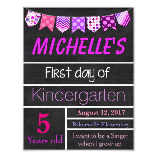 First Day of School Sign, Chalkboard Sign, Poster
