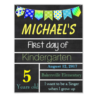 First Day of School Sign, Chalkboard Sign, Signs