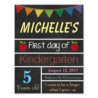 First Day of School Sign, School Chalkboard Sign