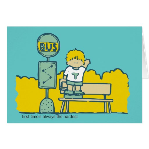 First Day of School Tshirts and Gifts Greeting Card