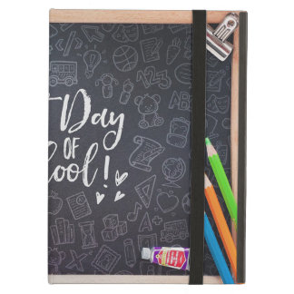 First Day School Blackboard & Stationary Cover For iPad Air