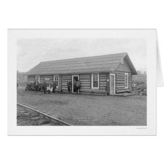 First Depot Anchorage Alaska 1912 Greeting Card