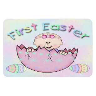 Baby girl first easter gifts gift ideas zazzle uk first easter baby girl flex magnets negle Image collections
