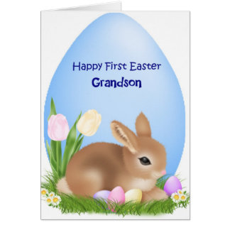 First Easter Grandson Card