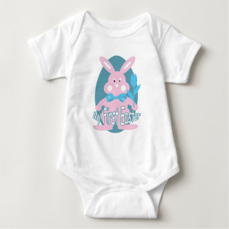 Baby girl first easter gifts t shirts art posters other gift first easter pink bunny baby girl bodysuit negle Images