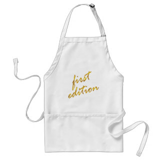 First Edition Quote Faux Gold Foil Metallic Design Standard Apron
