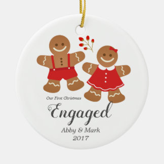 First Engaged Gingerbread Christmas Ornament