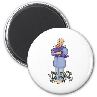 First Father's Day 6 Cm Round Magnet