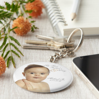 First Fathers Day Button Keychain – Customize It!