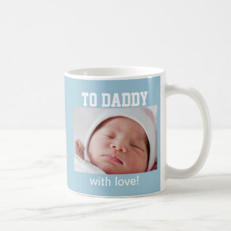 First Father's Day - Custom Photo/Year Basic White Mug