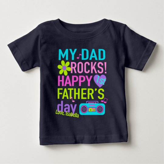 First Fathers Day Shirt Baby Girl My Dad