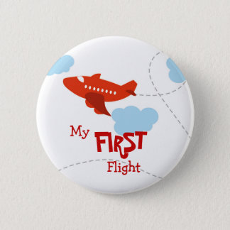 First Flight 6 Cm Round Badge