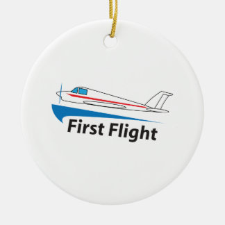 FIRST FLIGHT ROUND CERAMIC DECORATION