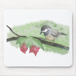 First frost for Chick-a-Dee Mouse Pad