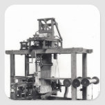 First fully automated loom square sticker