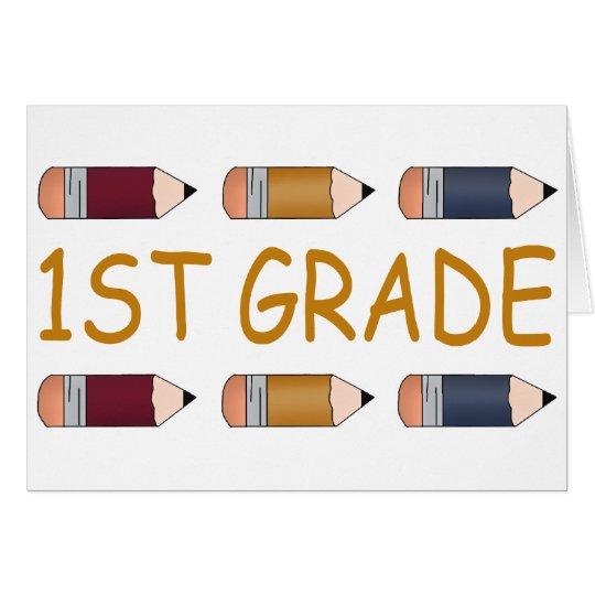 First Grade School Pencil Card