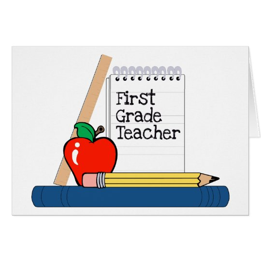 First Grade Teacher (Notebook) Card