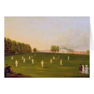 First Grand Match of cricket played by members of Greeting Card