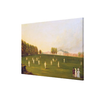 First Grand Match of cricket played by members of Stretched Canvas Print