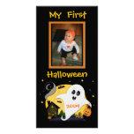 First Halloween Custom Photo Card