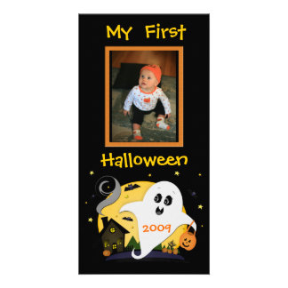 First Halloween Custom Photo Card