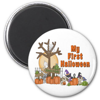 First Halloween Cute & Spooky 6 Cm Round Magnet