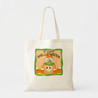 FIRST HALLOWEEN GIRL TOTE BAGS