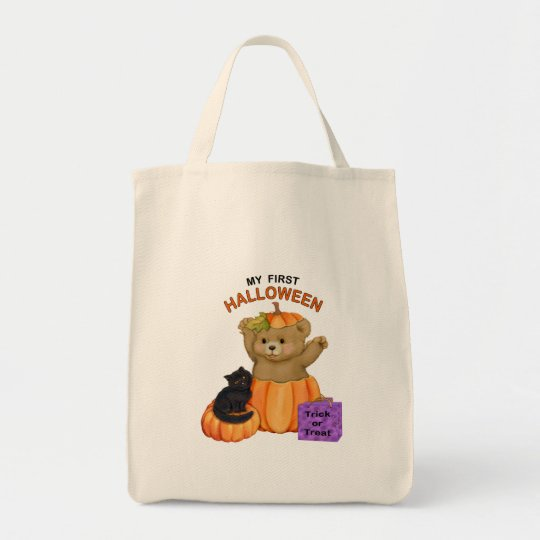 First Halloween Teddy Bear Tote Bag