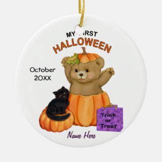 First Halloween Teddy Round Ceramic Decoration