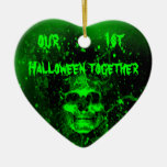 First Halloween together Ceramic Heart Decoration