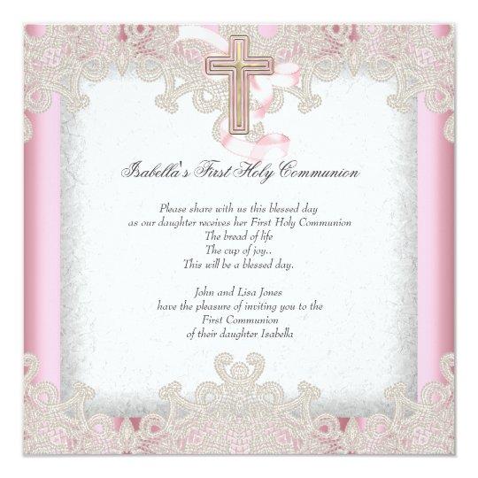First Holy Communion 1st Girls Cross Pink 7