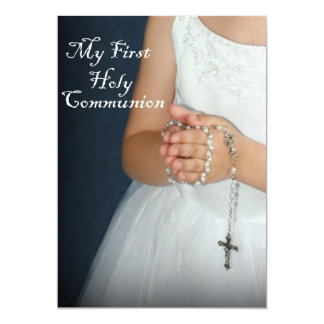 First Holy Communion 4 5x7 Paper Invitation Card