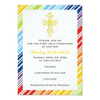 First Holy Communion / Baptism / Confirmation 13 Cm X 18 Cm Invitation Card
