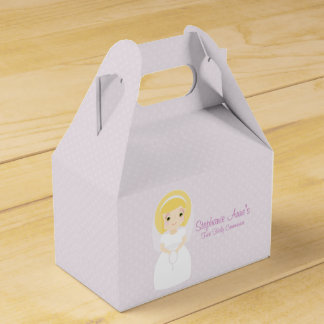 First Holy Communion Blonde Girl Favour Box