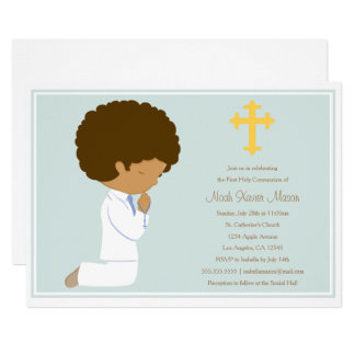 First Holy Communion - Blue | Invitation