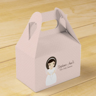 First Holy Communion Brunette Girl Party Favour Boxes