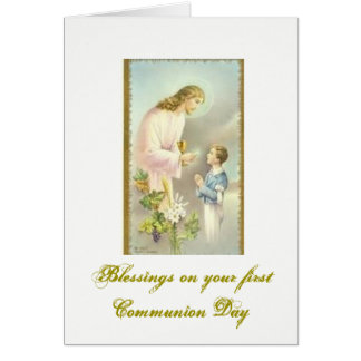 First Holy Communion - Congratulations - Card