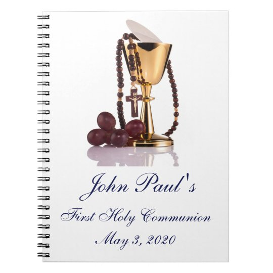 First Holy Communion Custom Guest Book