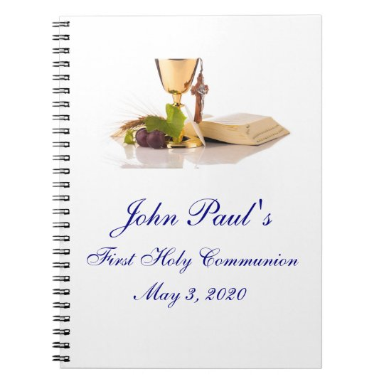 First Holy Communion Custom Guest Book Note Book